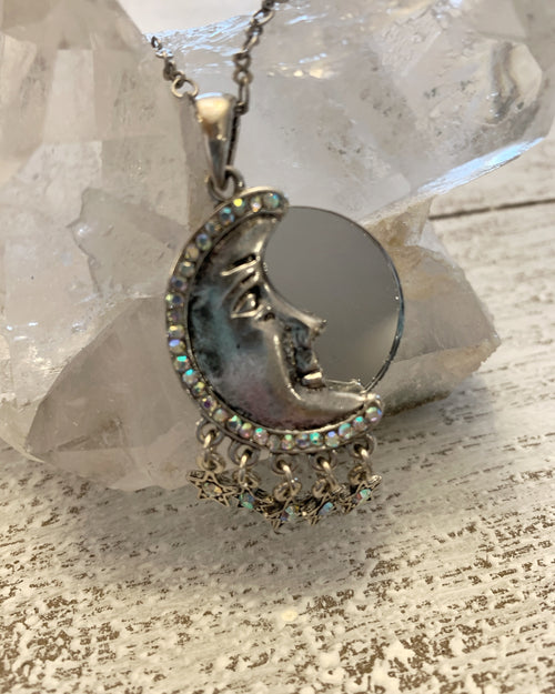 Multi Drop Moon Mirror Necklace