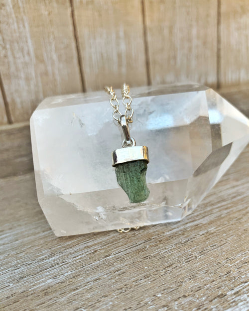 Moldavite Sterling Necklace