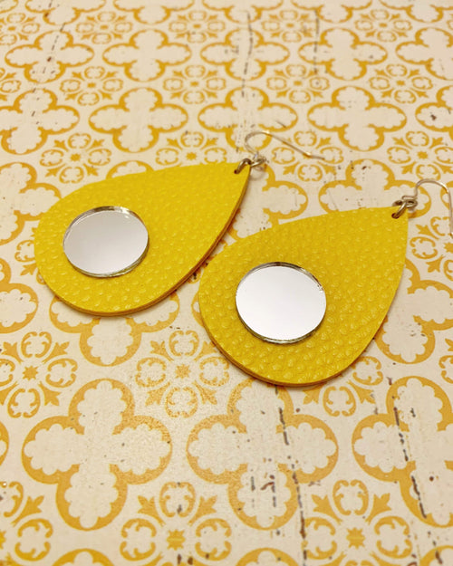 Marigold Mirror Earrings