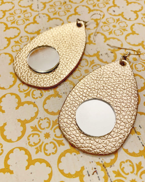 Gold Dust Mirror Earrings