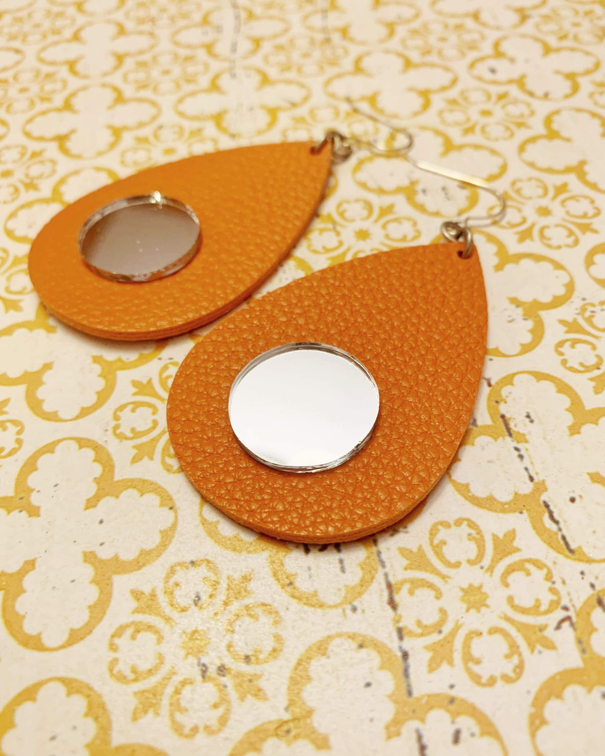 Coral Mirror Earrings