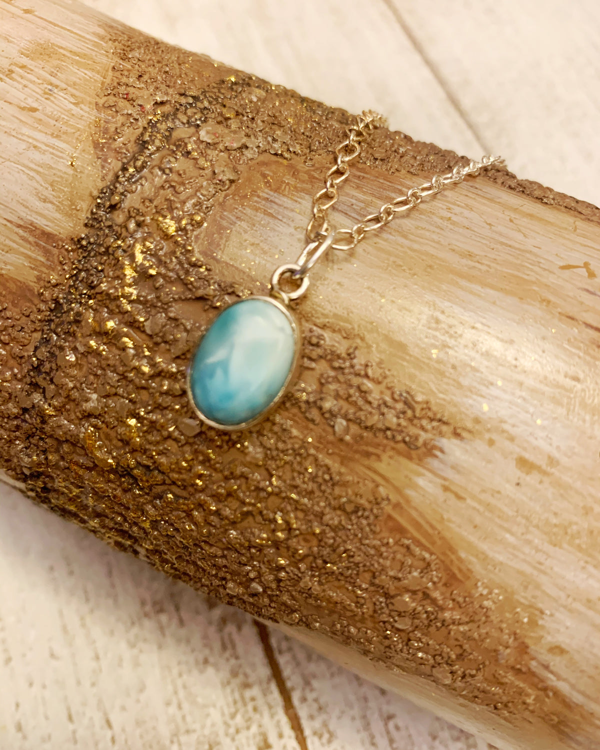 Larimar Sterling Necklace 1