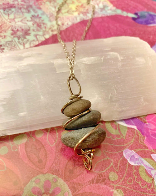 Lake Superior Riverstone Necklace