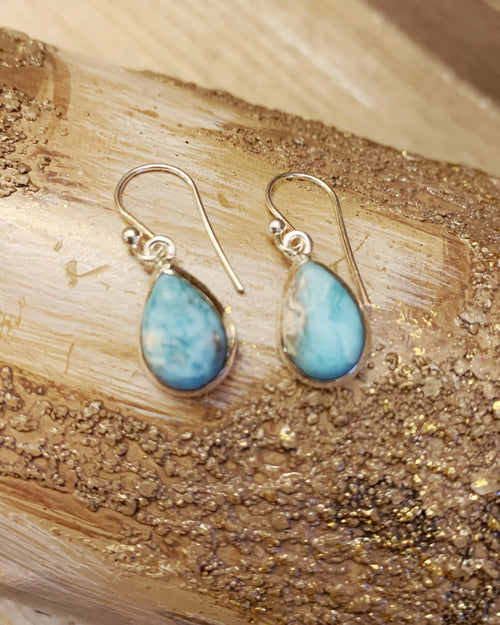 Larimar Sterling Earrings
