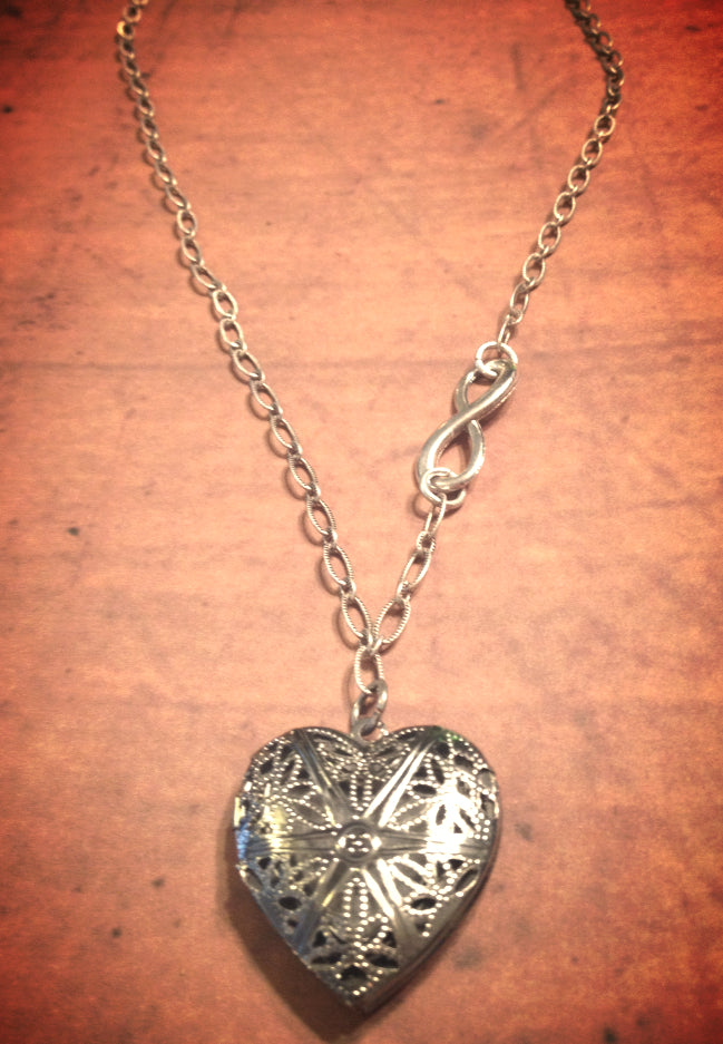 Silver Heart Aromatherapy Necklace