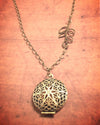 Antique Brass Aromatherapy Necklace