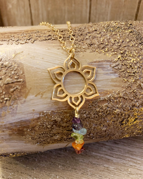 Lotus Chakra Gold Necklace