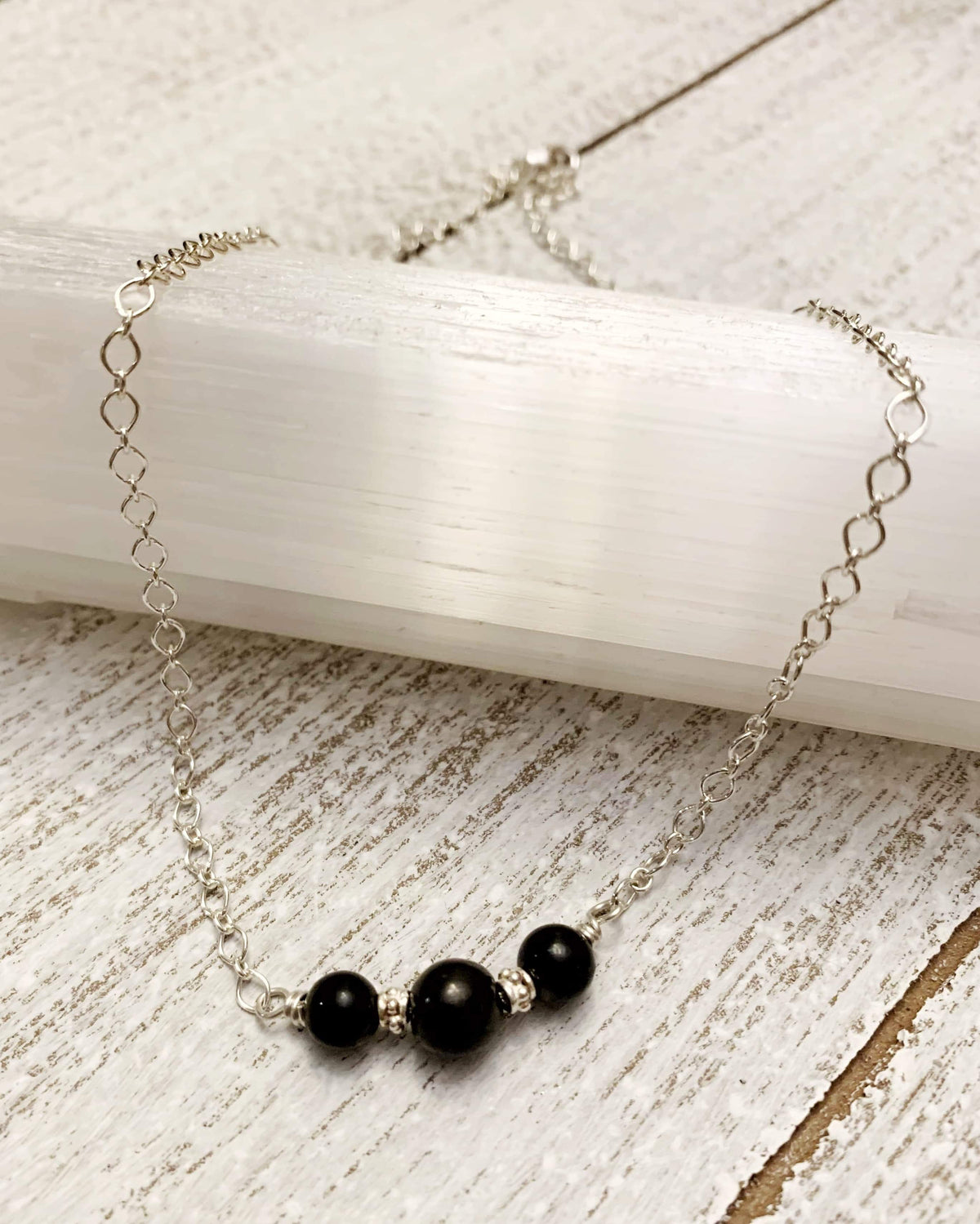 Shungite Sterling Silver Necklace