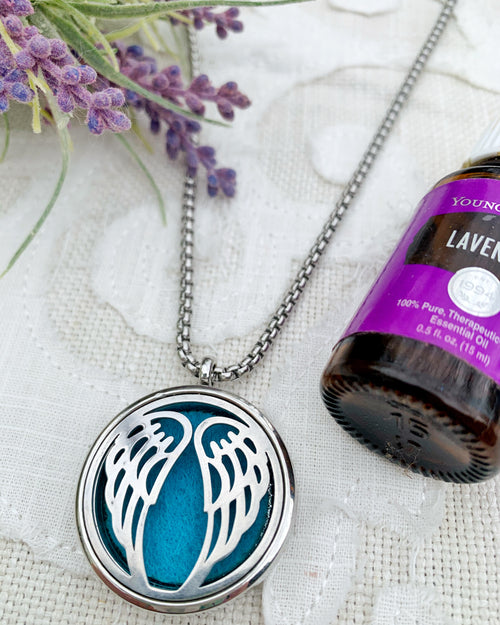 Teal Angel Aromatherapy Necklace