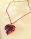 Copper Heart Aromatherapy Necklace