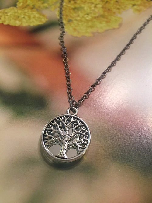 Tree of Life Mirror Necklace (small smooth)