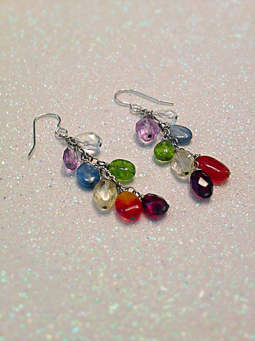 Chakra Gemstone Earrings