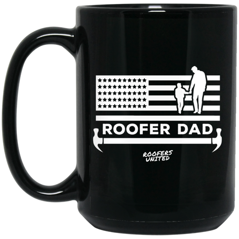 ROOFER DAD - 15 oz. Black Mug