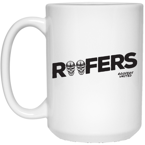 ROOFERS SKULLS - White Mug