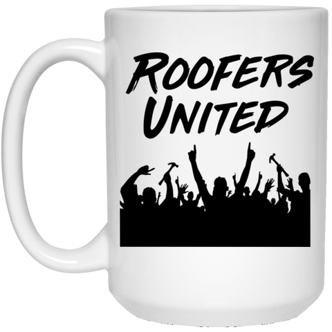 Roofers Hands Up - White Mug