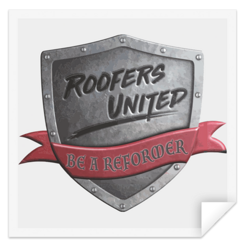 Roofers Shield - STSQ Square Sticker