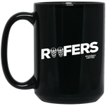 ROOFERS SKULLS - 15 oz. Black Mug