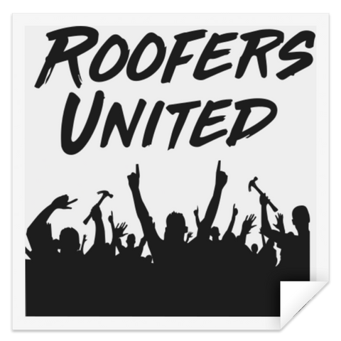Roofers Hands Up - STSQ Square Sticker