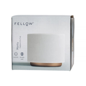 Fellow Monty Milk art (6.5oz Matte White ) Cappuccino