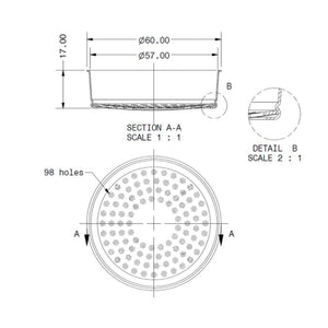 IMS E61200IM Shower Screen