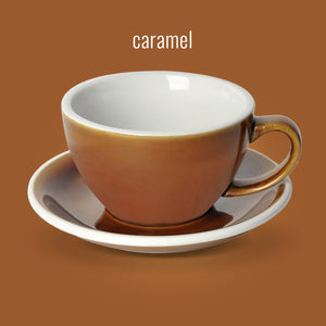 LOVERAMICS EGG 200ML CAPPUCCINO CUP & SAUCER