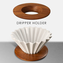 Load image into Gallery viewer, ORIGAMI Dripper Holder (wood & plastic )