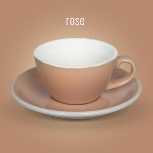 LOVERAMICS EGG 150ML FLAT WHITE CUP & SAUCER