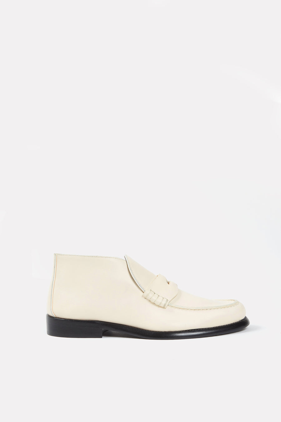 Chunky Loafer Bootie Off-White