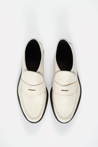 Chunky Loafer Bootie Off-White.