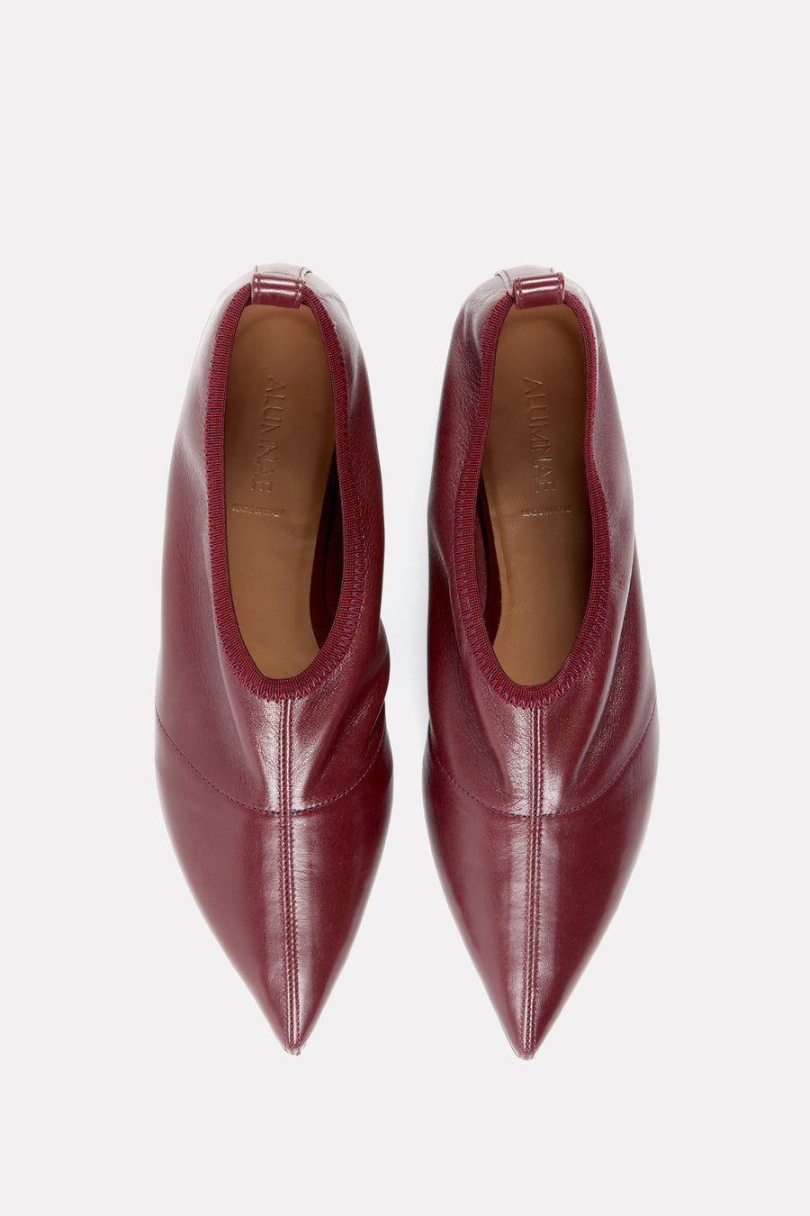 Soft Point Toe Flat Bordeaux Nappa.