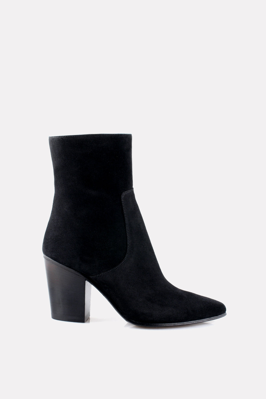 Point Toe Boot Black Suede.