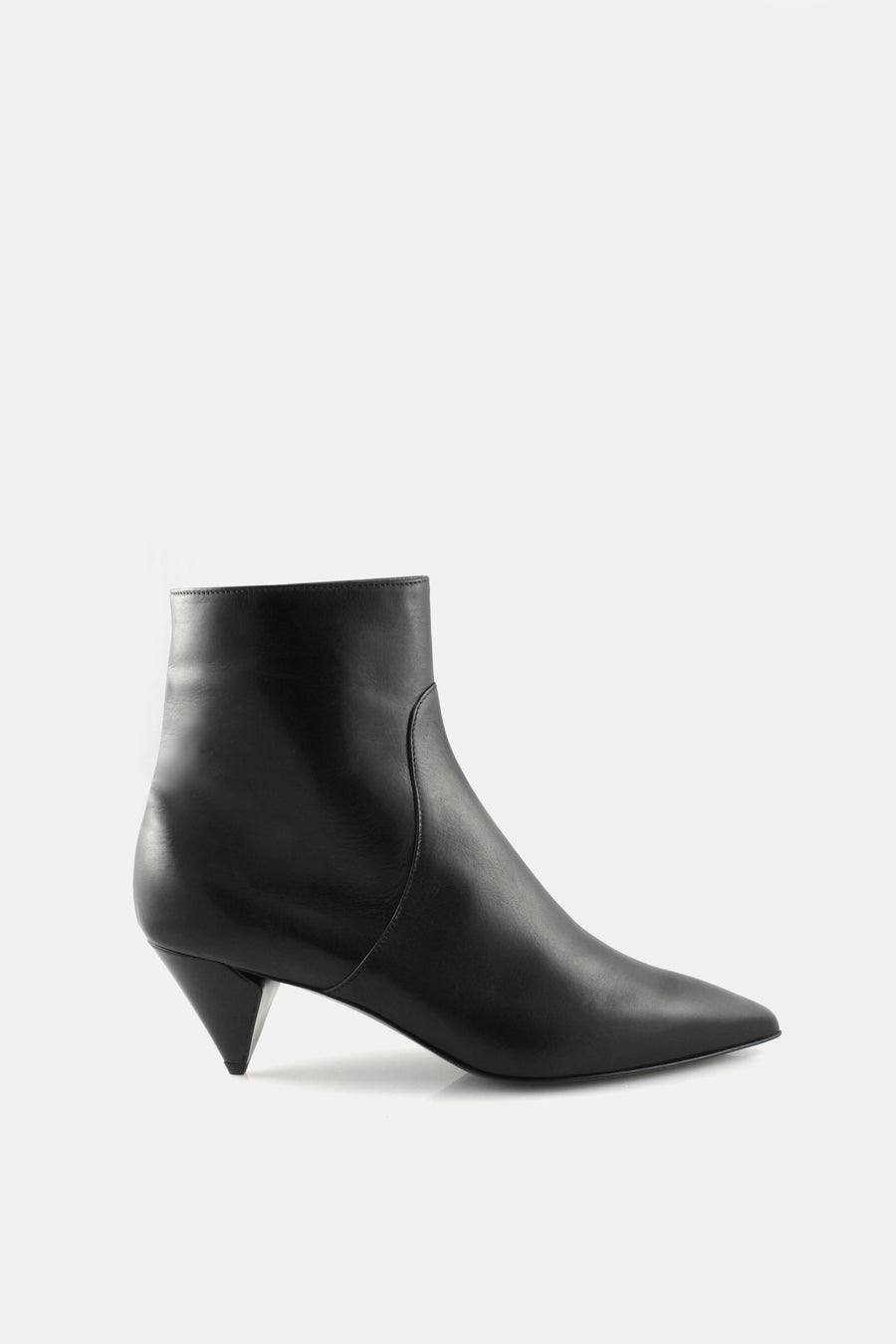 Point Toe Kitten Heel Boot Black