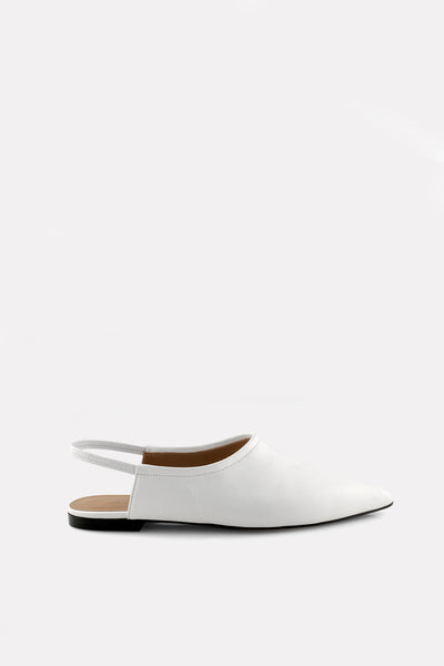 Point Toe High Vamp Sling White.