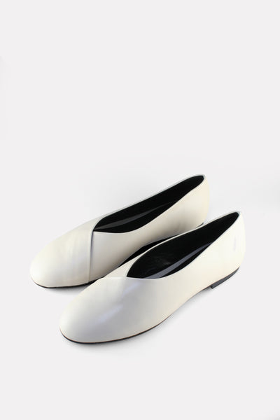 Wrap Ballerina Flat Off-White