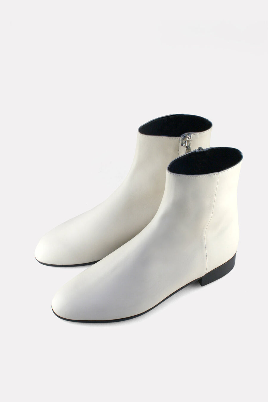 Clean Garconne Boot Off White Calf.