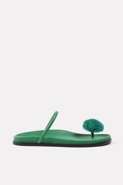 Button Thong on Footbed Green.