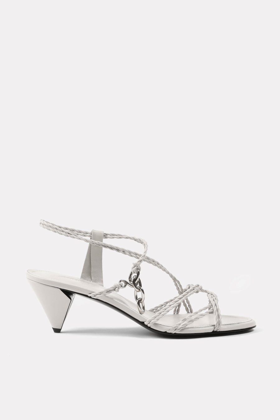 Mignon Twist Kitten Heel Sandal Chalk White.