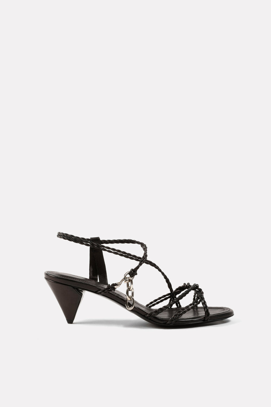 Mignon Twist Kitten Heel Sandal Black.