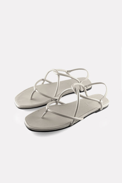 "Leather ""Rope"" Thong Sandal Chalk White Nappa"