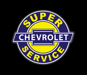SUPER CHEVROLET SERVICE VINTAGE SIGN