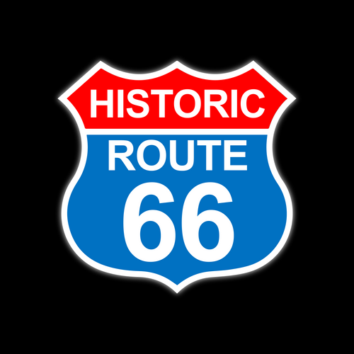 HISTORIC ROUTE 66 VINTAGE SIGN