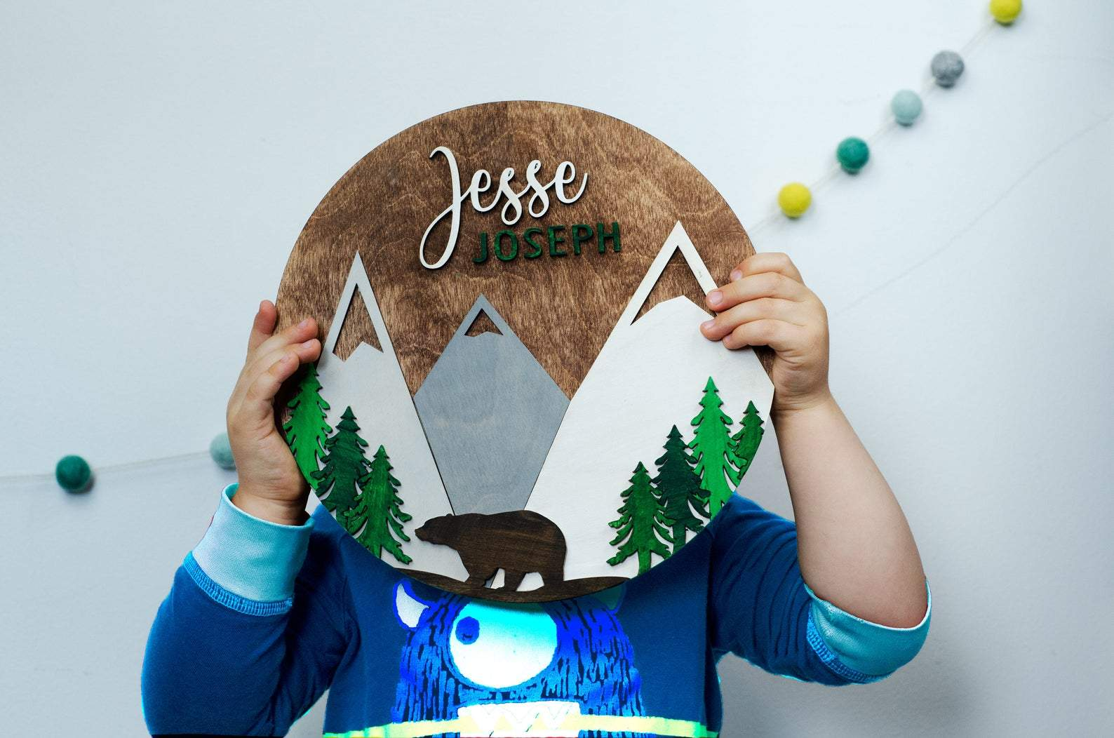 Adventure Mountain Nursery Name Sign