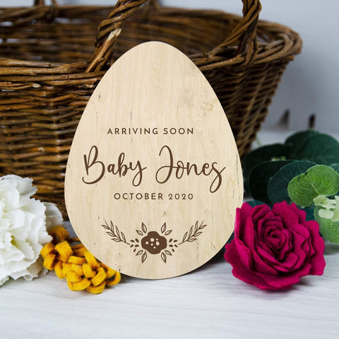 Baby announcement for Easter - Birch and Tides