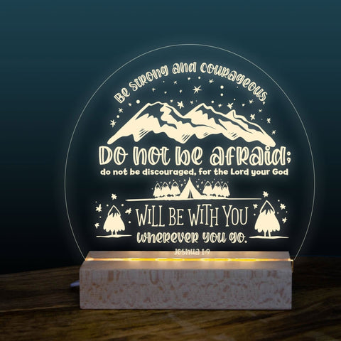 Be Bold & Courageous night light design
