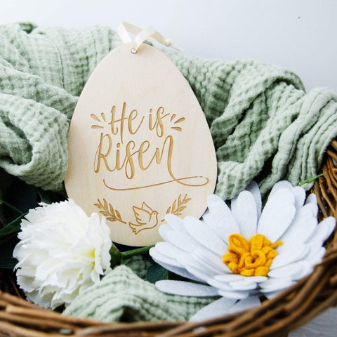 Christian faith based easter decoration - Birch and Tides