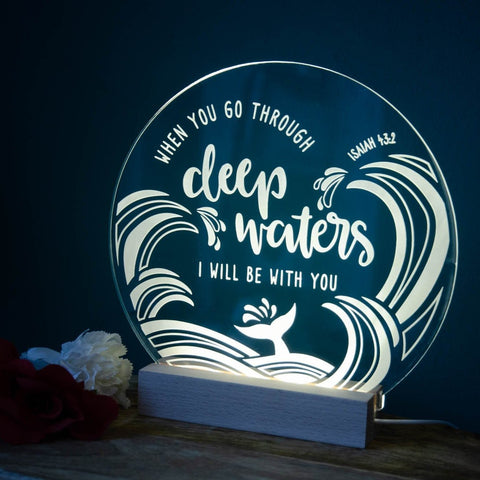 Deep Waters night light design - Birch and Tides
