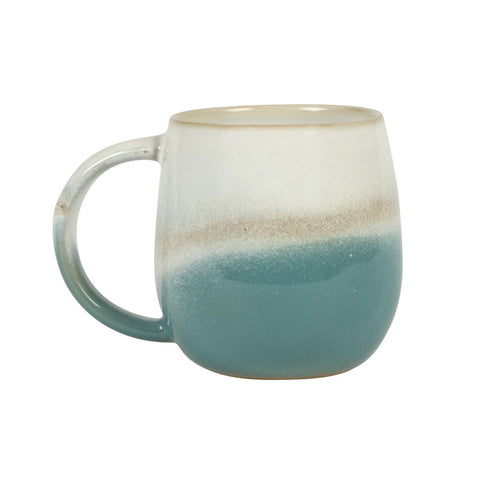 DIP GLAZED OMBRE TURQUOISE MUG - Birch and Tides