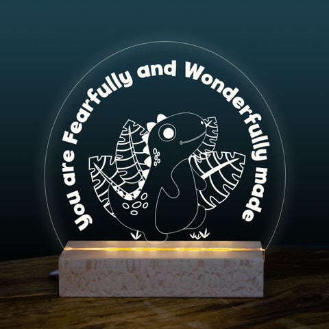 Fearfully & Wonderfully made night light design - Birch and Tides
