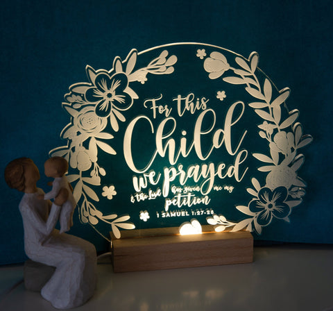 For this Child we prayed lamp - Birch and Tides