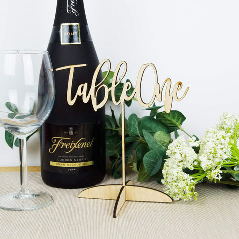 Freestanding wedding table name